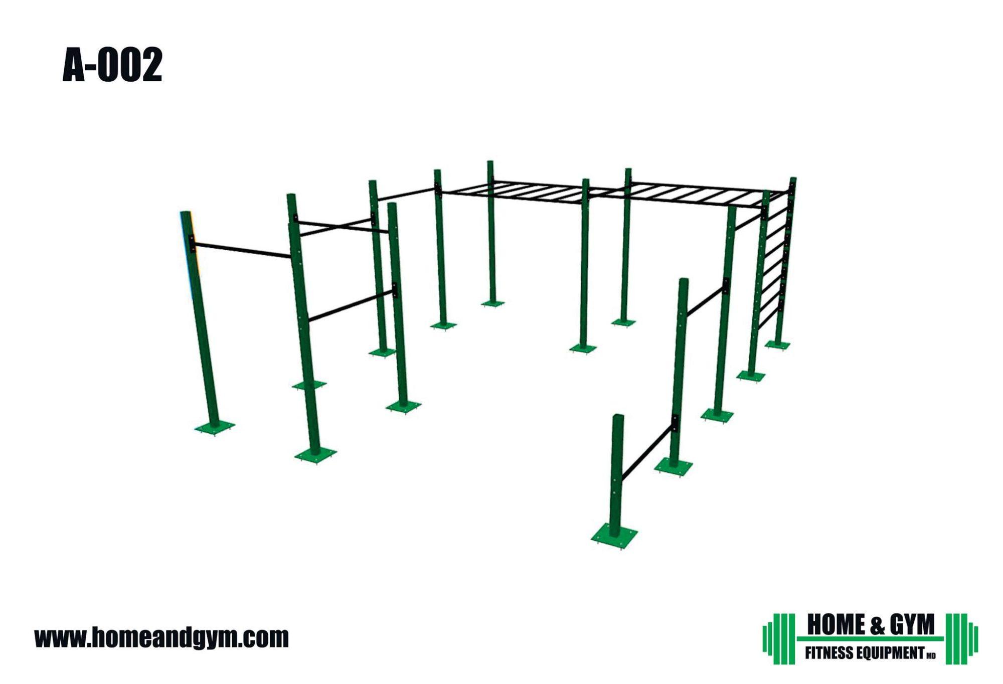 Equipo para gimnasio, parque urbano.