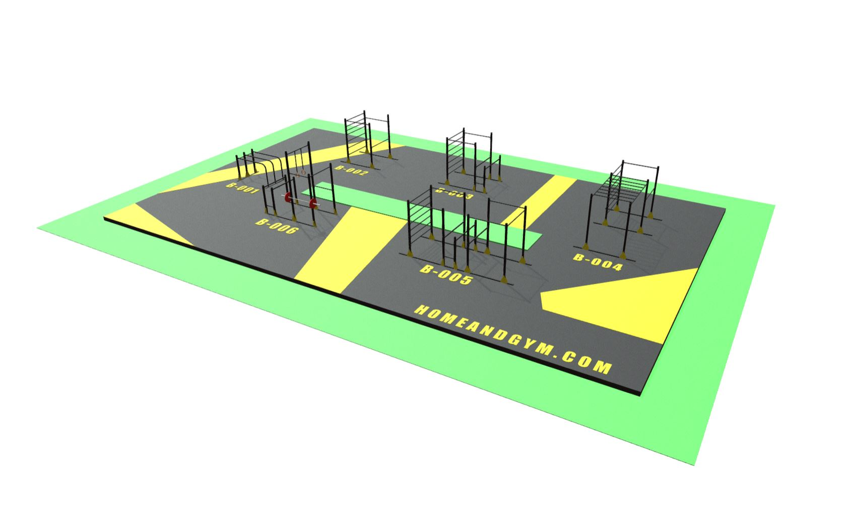 Gimnasio urbano y equipo para crossfit