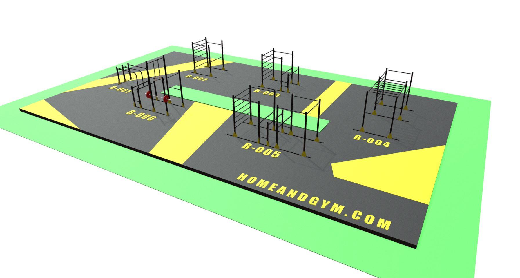 Gimnasio lineal y gimnasio urbano