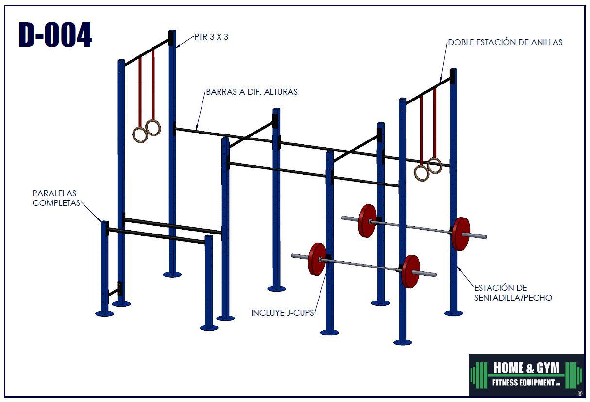 Gimnasio funcional para calistenia, crossfit y street workout
