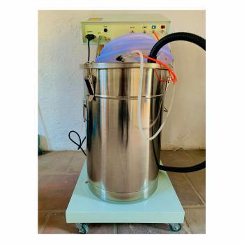 Equipo para la aplicación de pintura en polvo electrostática 2