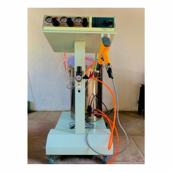 Equipo para la aplicación de pintura en polvo electrostática 4